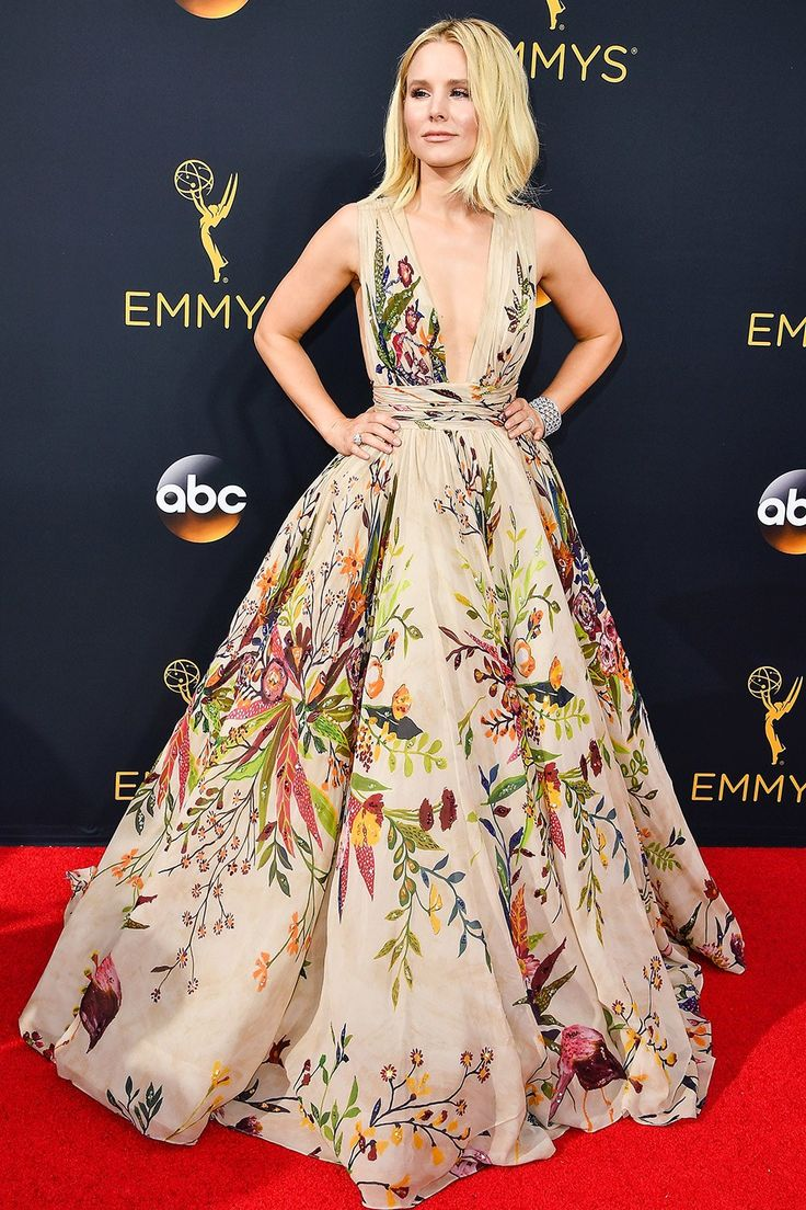 Best dressed: Kristen Bell in Zuhair Murad at the 2016 Emmys.