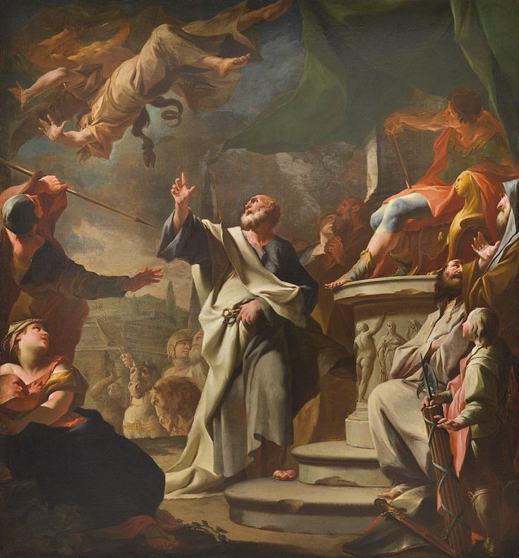 41 Paul Troger: Sv. Petr při souboji se Šimonem mágem, Arcidiecézní muzeum Olomouc