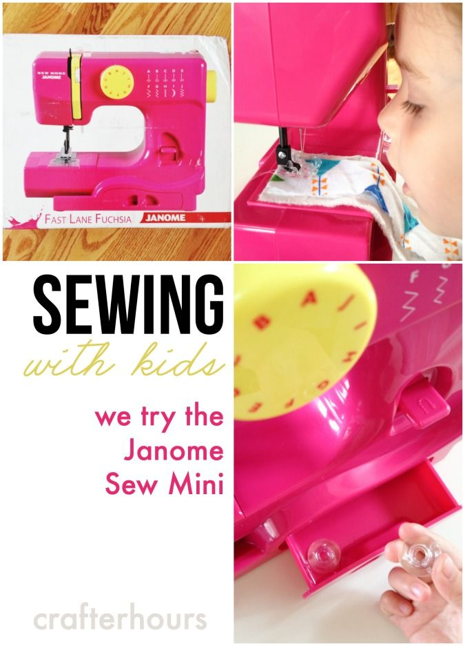 A review of kid-friendly features of the Janome Sew Mini sewing machine for kids.