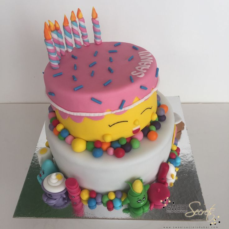 Shopkins Cake, Novelty Cakes Dubai www.sweetsecretsdubai.com
