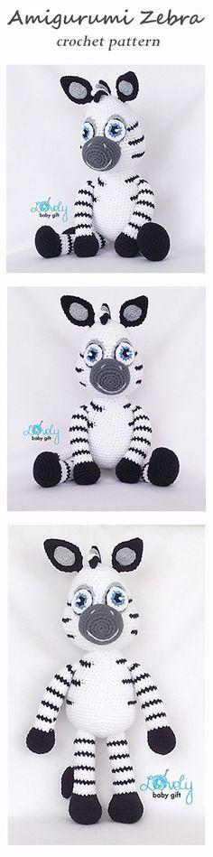Crochet Pattern - Amigurumi Zebra, crochet animal pattern…