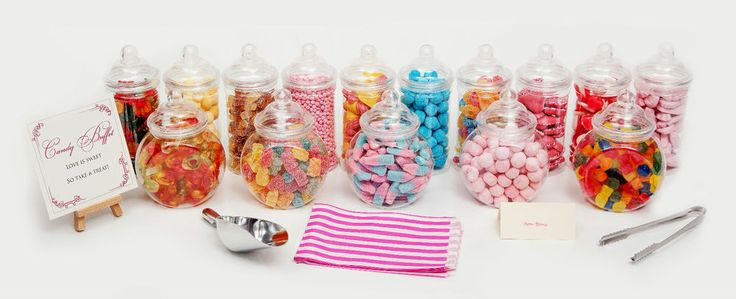Plastic Sweet Jars Tongs & Bags Candy Buffet Wedding Party Kids Pick Mix | eBay