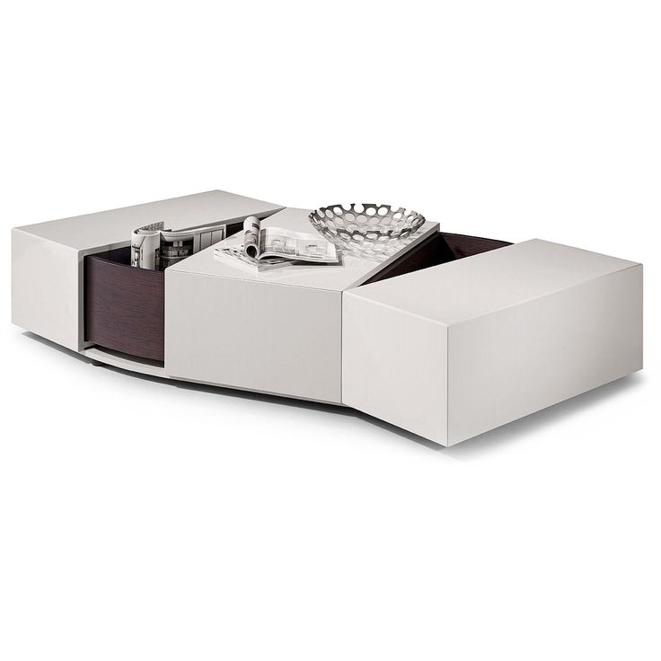 Modern White Coffee Table With Storage Feeling
