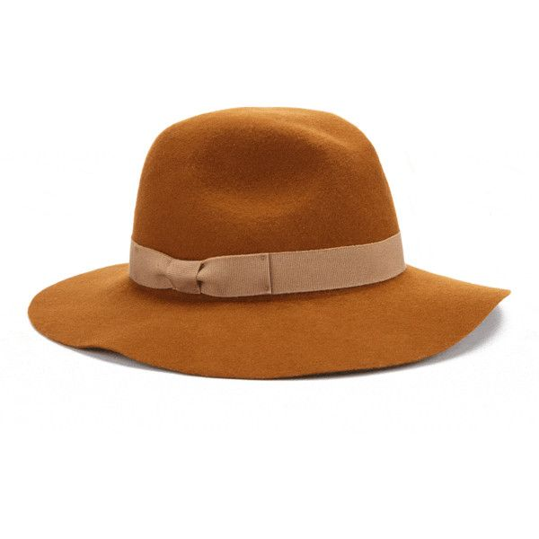 Jigsaw Wide Brim Fedora Hat (£49) ❤ liked on Polyvore