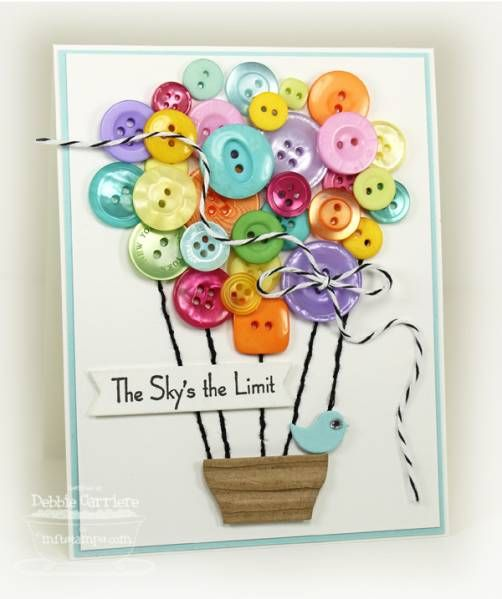 DTGD12Beate - Balloon Full of Buttons by mom2n2 - Cards and Paper Crafts at Splitcoaststampers