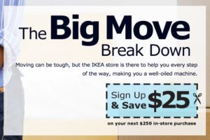 IKEA moving coupon