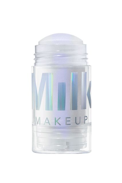 Milk Makeup Holographic Stick - This twist-up stick was created with portability in mind. Use your fingers and dot it onto the eyelids, Cupid's bow, and high points of your cheeks for a chic monochromatic look or layer it under foundation for a boost of dewiness.
