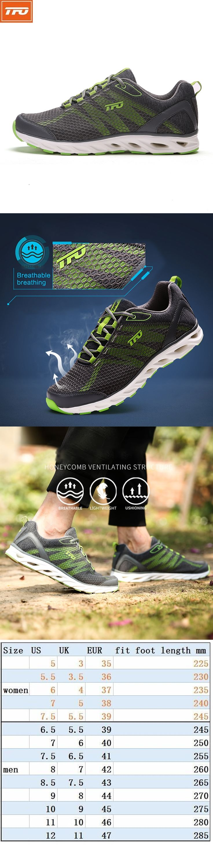 TFO Outdoor Running Shoes For Man Summer Light Weight Mesh Breathable Sneakers Lovers Outdoor Sport Shoes Lace-Up 851708
