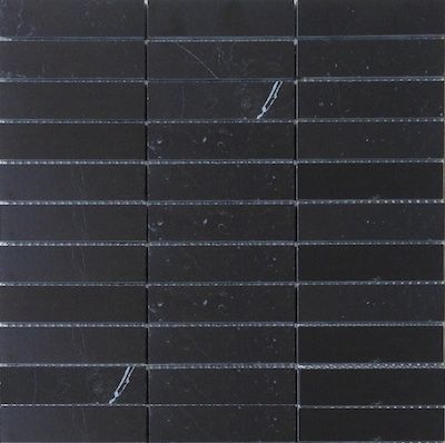 Nero Marquina Black Marble 1x4 Quot Stacked Brick Polished