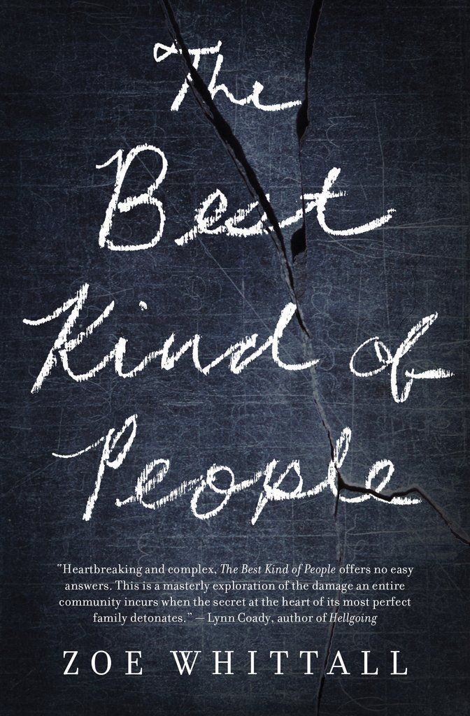 The Best Kind of People (House of Anansi press) - What if someone you trusted was accused of the unthinkable? Zoe Whittall explores issues of loyalty, truth, and the meaning of happiness through the lens of an all-American family on the brink of collapse. The novel is featured here (https://www.thestar.com/entertainment/books/2016/09/10/giller-nominee-zoe-whittall-unique-take-on-rape-culture.html) and reviewed here (http://winnipegreview.com/2016/09/the-best-kind-of-people-by-zoe-whittall/).