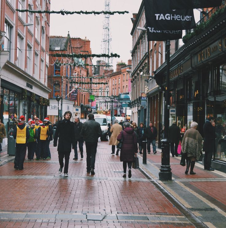 Grafton St. in Dublin, Ireland