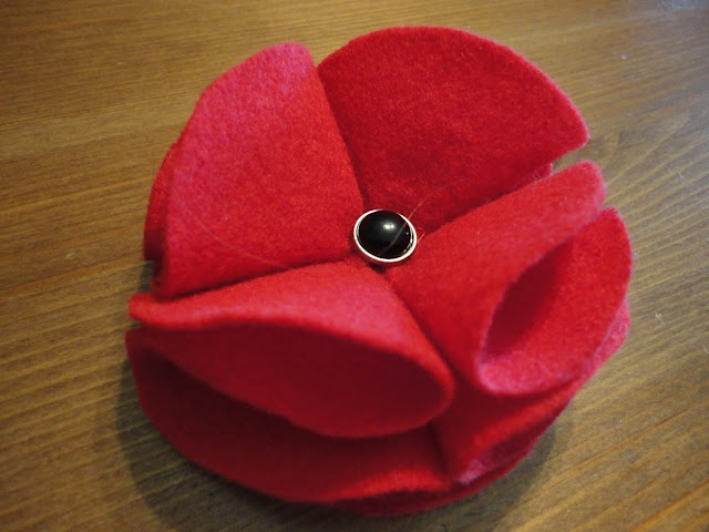 I love poppies, especially when they're made by hand