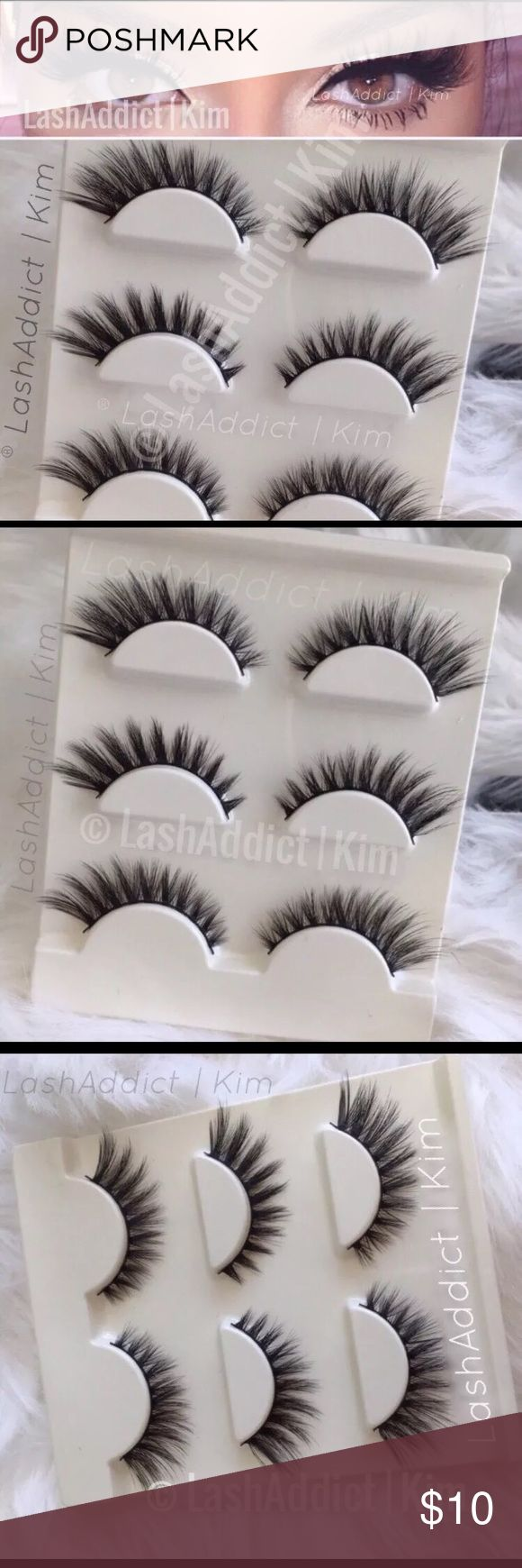 Spiky Mink Lashes Eyelashes 3d fur makeup new 3 Pairs Mink Lashes Eyelashes Last Up To 10-25 Applications  With Proper Care Style: Flutter Wsp spiky Shipping within 1 Business Day Makeup False Eyelashes