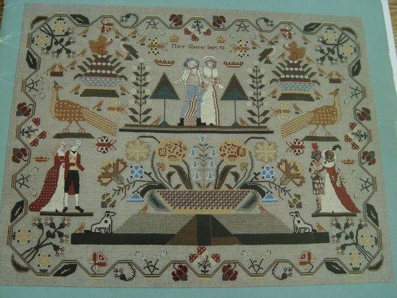 Vintage cross stitch pattern mary slatter sampler by