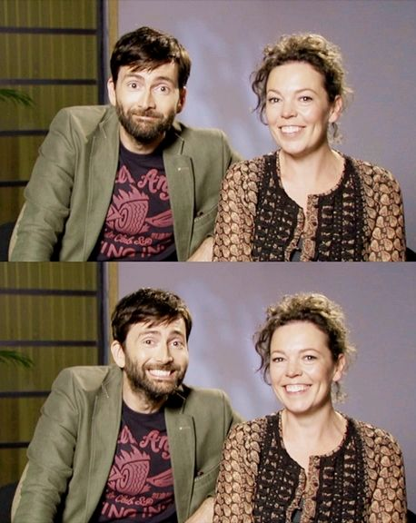 "Olivia Colman and David Tennant in ""Broadchurch"" (BBC detective series)"