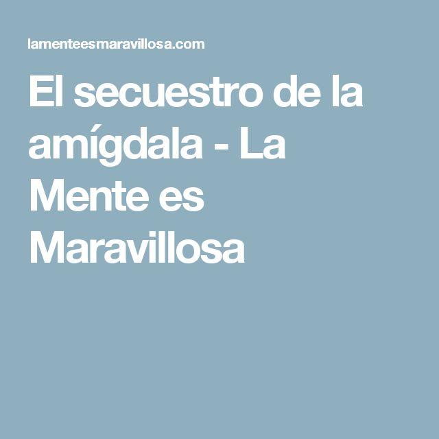 El secuestro de la amígdala - La Mente es Maravillosa