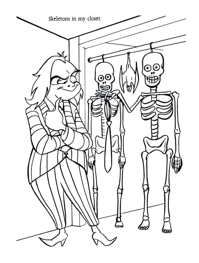 beetlejuice coloring pages retroreprints  the world's