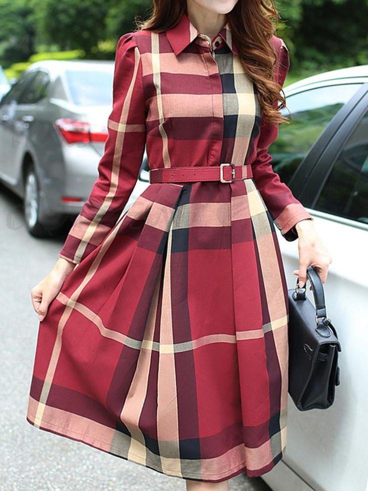 ファッション全3色チェック柄イートン・カラーベルト付き膝丈ワンピースは格安とか人気のものなどいろいろな種類があり、ここで。一番のサービスと最高品質の商品Doresuweで提供しています。