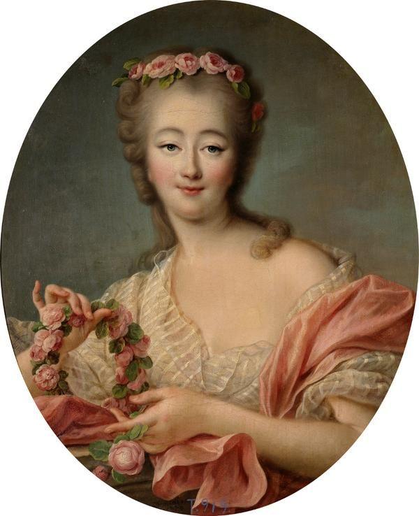 Portrait of Madame Du Barry 1770 - mistress of Louis XV - by François Hubert Drout