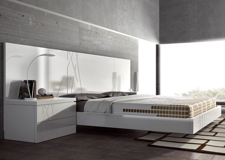 Guardia - GALA Modern Bed in High Gloss or Matt Lacquer - Head2Bed UK