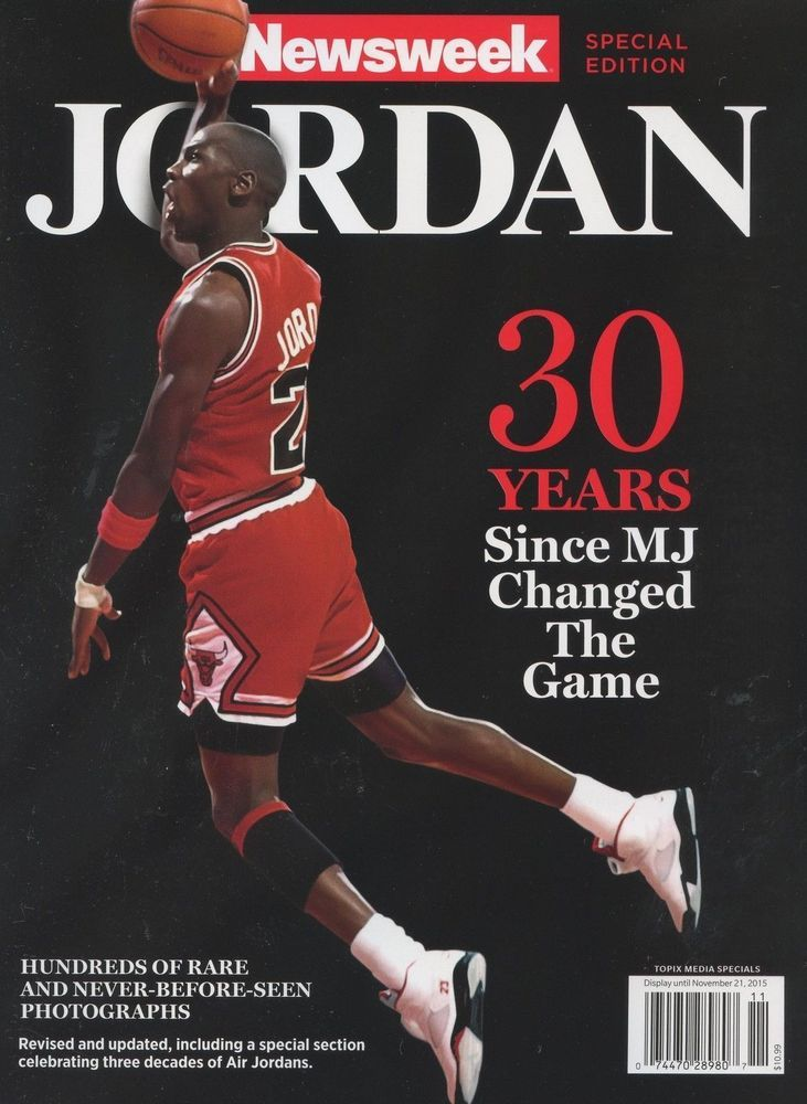 Newsweek magazine Michael Jordan Basketball Chicago Bulls Photos Family Life
