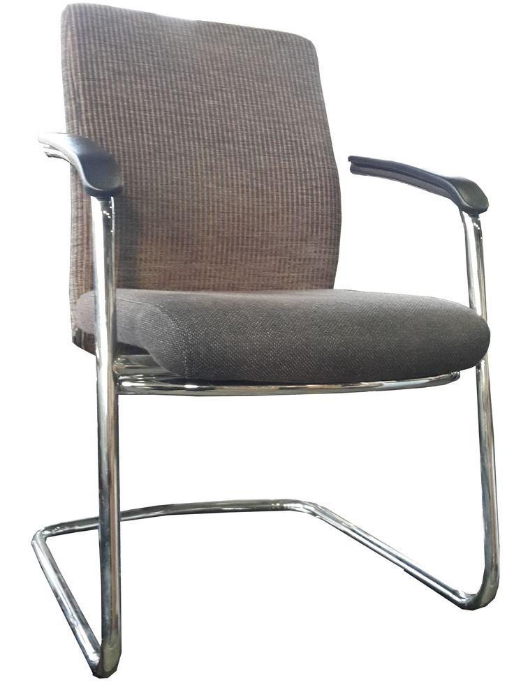Black & Brown chrome framed sleighbase visitors chair @ R495.00