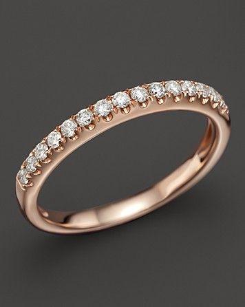 Alliance or rose et diamants