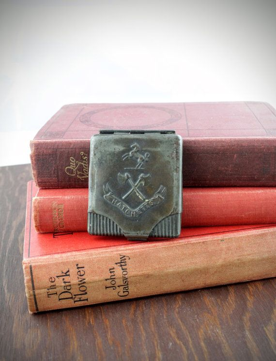 Antique Matchbox Case from Hatchettes  Circa by LoAndCoVintage