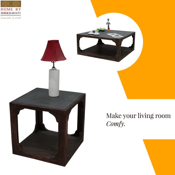 Living room is the center-most part of the home. It is the place that hold a special place in our heart.  So, give your Living room that ethnic yet stylish look with these wonderful wooden tables from Home By Shekhavati. They are in wide range of both as center table as well as side one.  To buy, visit http://bit.ly/Designer_CoffeeTable