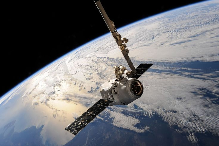 White Outer Space Satellite  Free Stock Photo