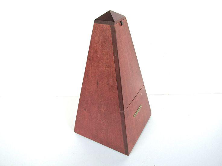 Vintage Seth Thomas Metronome De Maelzel Sculptural Music Timer, Vintage Wooden Case Metronome Piano Timer by HerVintageCrush on Etsy