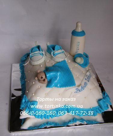 Детские торты на заказ Днепропетровск, торт на день рождения ребёнка, торт для детского праздника – Подушечка для мальчика