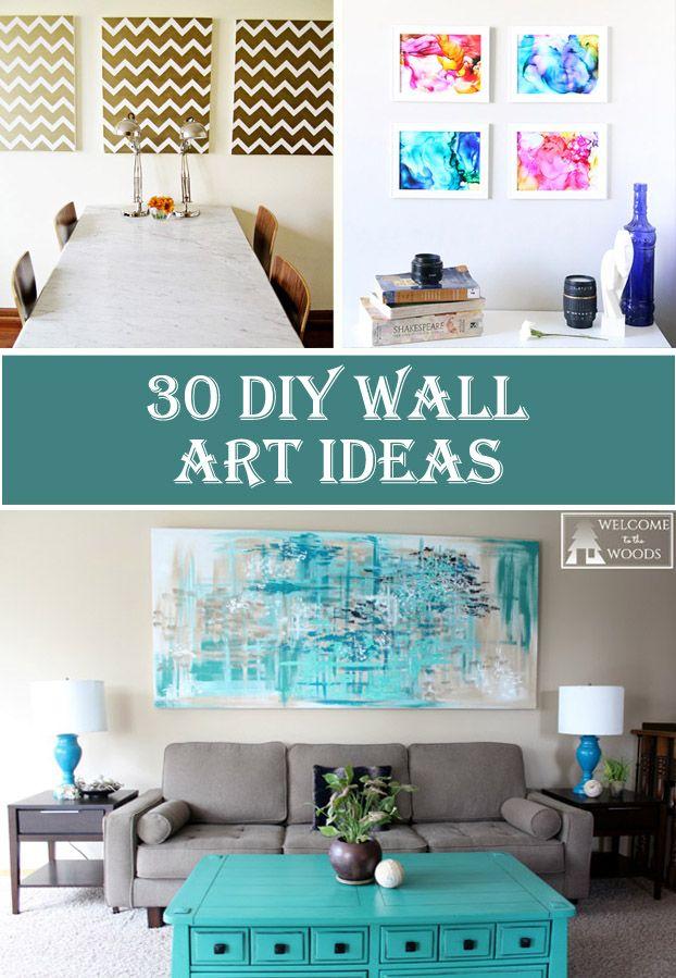 30 DIY Wall Art Ideas