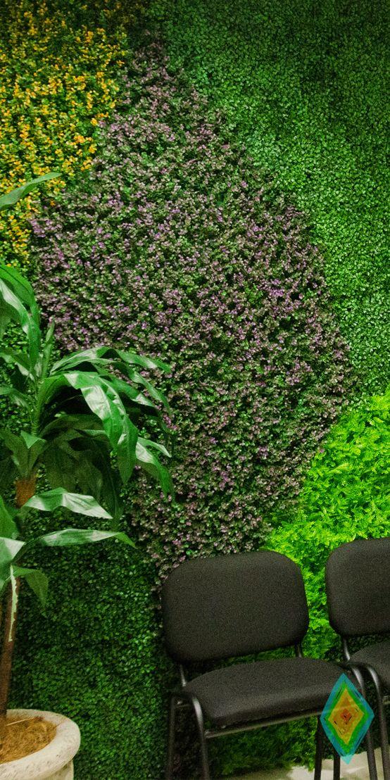 Mejores 13 im genes de jardines verticales artificiales for Imagenes de jardines verticales