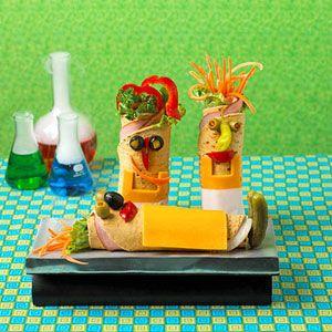 Mad Scientist Wraps #food #kids