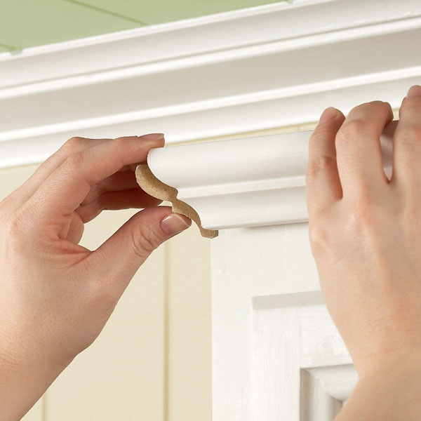 install crown moulding on your cabinets: