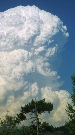 Weather: Explosive clouds.