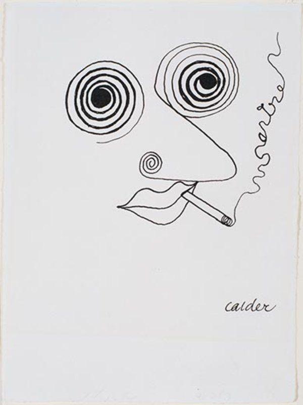 Jean-Paul Sartre, Alexander Calder, 1947. (Calder Foundation, New York) | Smithsonian