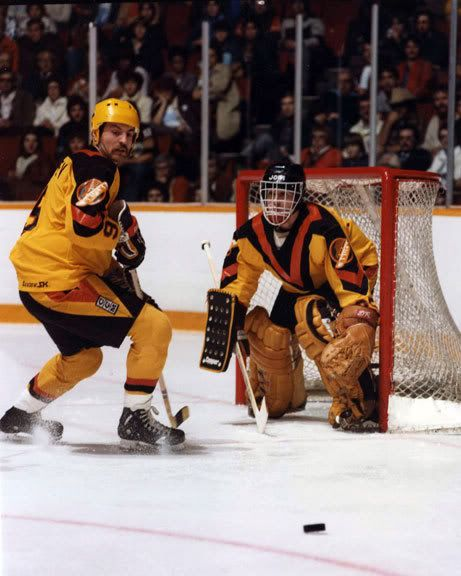 Richard Brodeur. As a kid, this goalie and this jersey were the best!