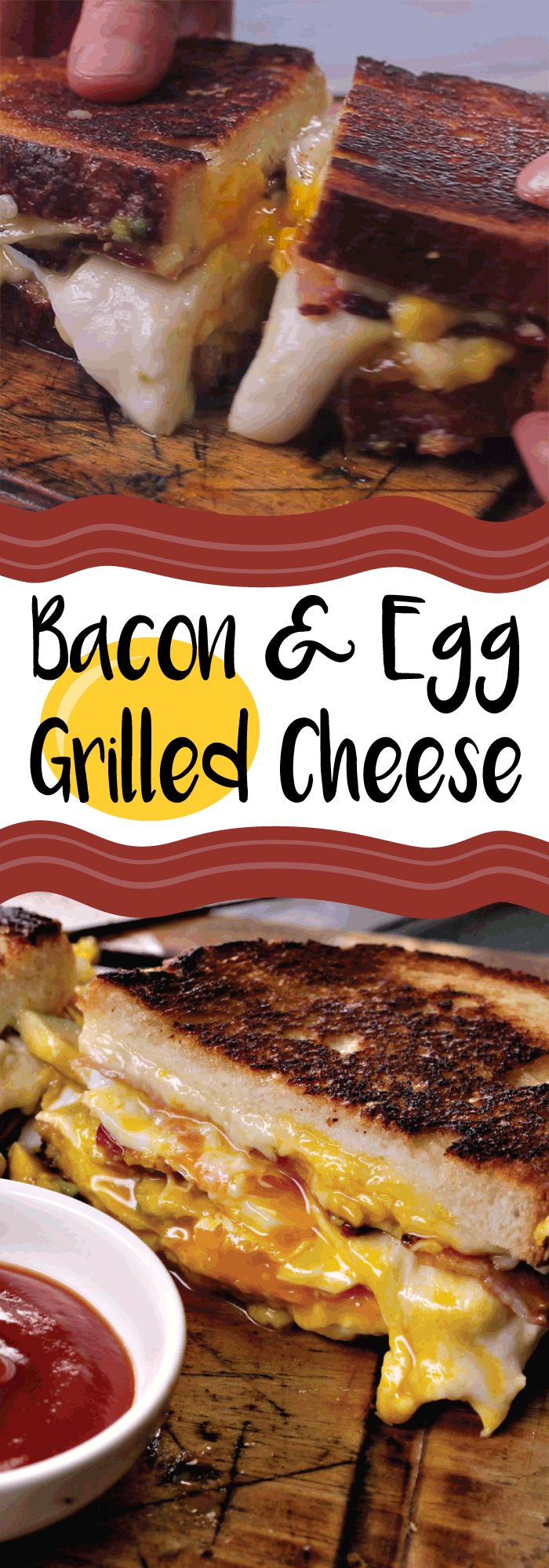 Twisted knows just how to take a grilled cheese to the next level by combining the trifecta that is bacon, egg, and cheese, and stuffing it between two buttery slices of bread. Along with avocado, it's got both cheddar and mozzarella cheese, making it one hell of a grilled cheese sandy.
