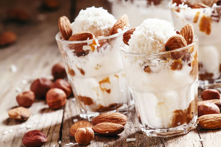 Kokosovo-mandlová zmrzlina