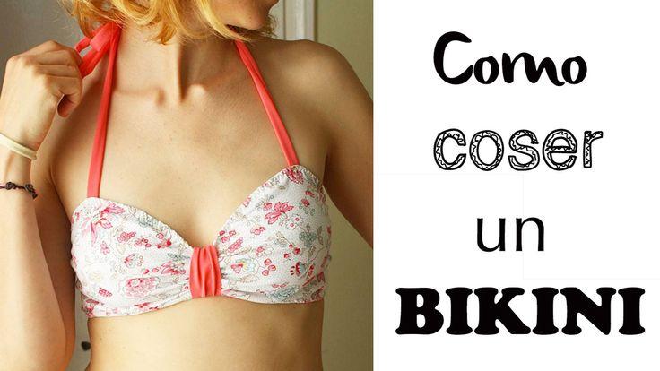 Como coser un bikini con tela de lycra paso a paso a medida con patrones gratuitos para este verano 2016. Tips y consejos en el video.