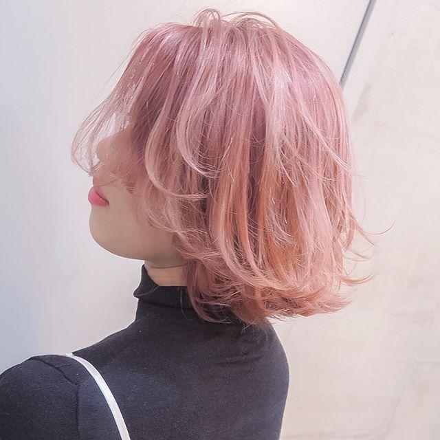 グラデーションカラー✖️ヴェールピンク⭐️⭐️⭐️ 担当 MORIYOSHI MORIYOSHIヘア、ヘアカラー集はこちらから→ @moriyoshi0118  #shachu#hair#color#ヘアカラー#ピンク#ピンクアッシュ#ピンクヴェール
