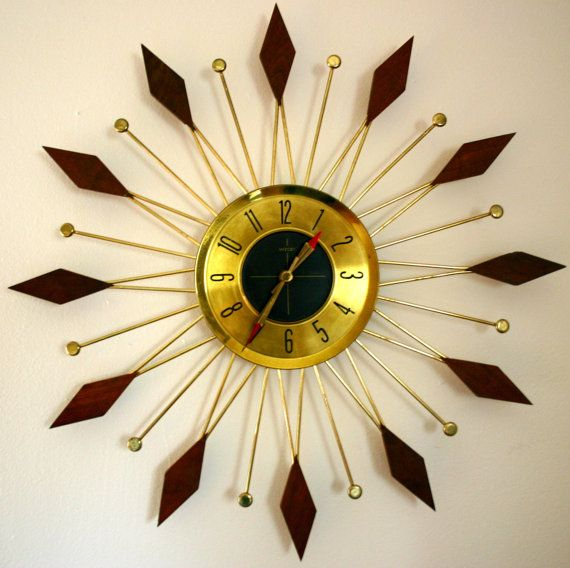 1000 images about mid century modern welby sunburst clock on pinterest mid century modern. Black Bedroom Furniture Sets. Home Design Ideas