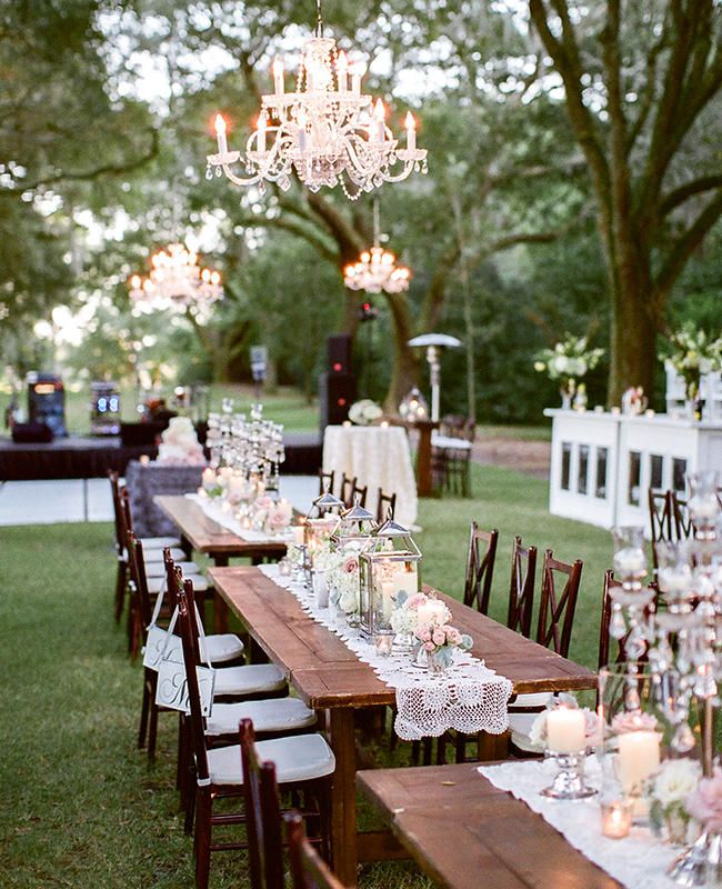 4127 best wedding centerpieces table decor images on pinterest 21 reception photos that will have you dreaming of an outdoor wedding junglespirit Image collections