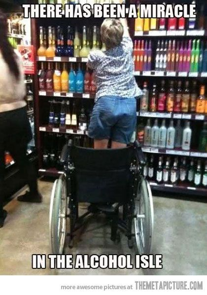 There has been a miracle... in the alcohol aisle.