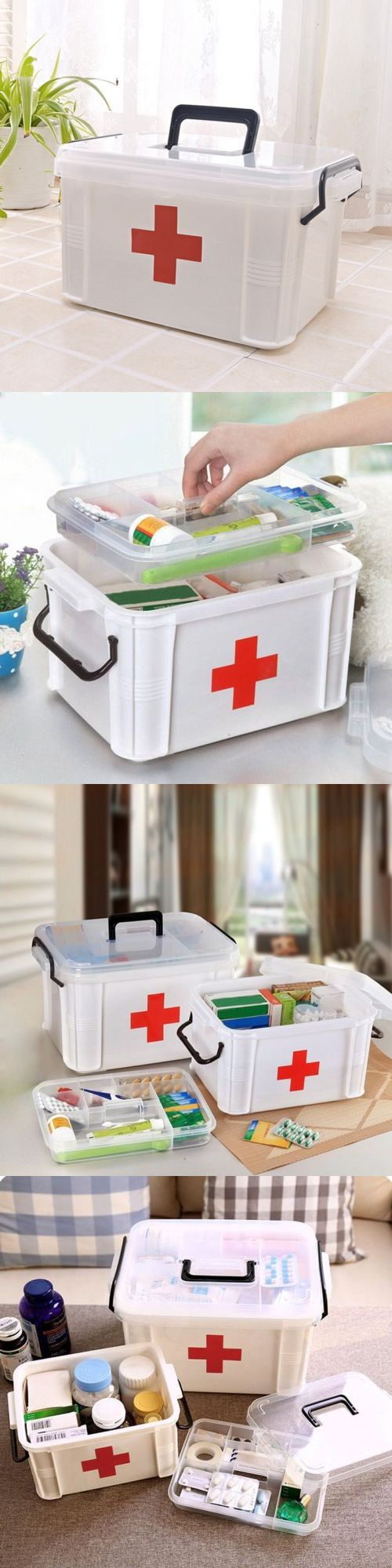 Kits and Bags: Home First Aid Kit Multiuse Emergency Medicine Box Drug Storage Case Organizer -> BUY IT NOW ONLY: $30.42 on eBay!