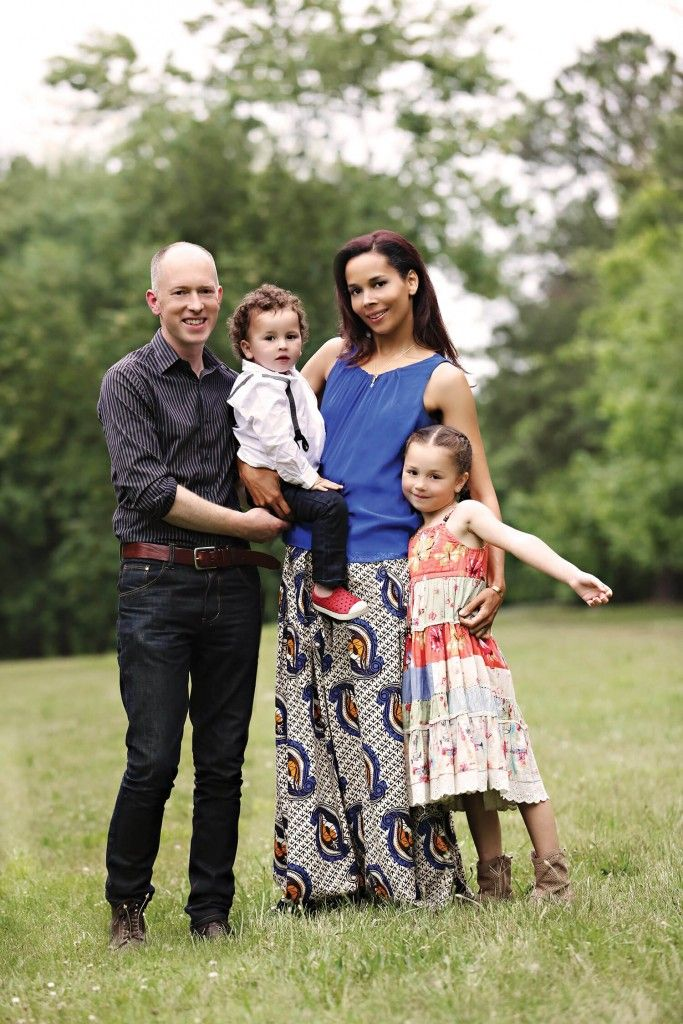 Wedded to the music: Rhiannon married Irish musician Michael Laffan eight years ago. Their son and daughter have traditional Irish names. Caoimhín is 2, and Aoife is 6.