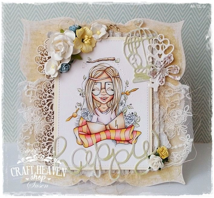 Craft Heaven Shop Inspirational Blog: Challenge #13 - Anything Goes with the Option of Lace and Flowers