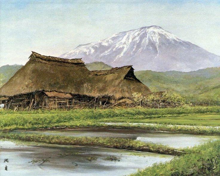Painting of Mt Iwate, 1971.